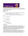 Student Affairs Newsletter, January 2016 by University of Northern Iowa. Division of Student Affairs.