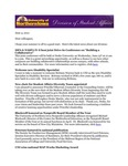 Student Affairs Newsletter, May-June 2012