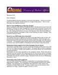 Student Affairs Newsletter, November 2012 by University of Northern Iowa. Division of Student Affairs.