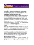 Student Affairs Newsletter, September 2012 by University of Northern Iowa. Division of Student Affairs.