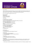 Student Affairs Newsletter, September 2015 by University of Northern Iowa.  Division of Student Affairs.