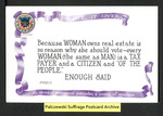 [014a] Think It Over (Because WOMAN owns real estate) [front] by Cargill Company