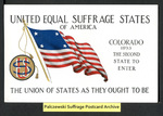 [028a] United Equal Suffrage States of America - Colorado [front] by Cargill Company