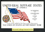 [031a] United Equal Suffrage States of America - Wyoming, Colorado, Utah, Idaho [front] by Cargill Company