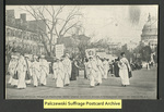 [045a] Suffragette's procession moving up Pennsylvania Avenue [front]
