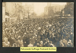 [047a] Suffragette Parade on Penn. Ave. interrupted by unruly crowds [front] by Little Art Shop Publishers