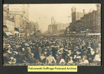 [049a] Crowd awaiting Suffragette Parade [front]