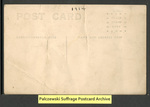 [050b] Small pro-suffrage parade [back] by Publisher unknown