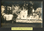 [055a] Vote No on Woman Suffrage parade float [front] by Publisher unknown