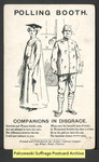 [058a] Polling booth. Companions in disgrace [front] by Artists' Suffrage League