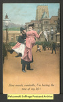 [060a] Slow march, constable, I'm having the time of my life! [front] by Bamforth & Company Publishers