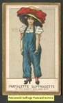 [107a] Suffragette series no.3: Pantalette suffragette (version 2) [front] by Dunston-Weiler Lithograph Company