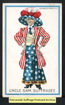 [112a] Suffragette series no.6: Uncle Sam, suffragee. [front] by Dunston-Weiler Lithograph Company