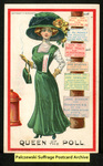 [117a] Suffragette series no.9: Queen of the poll [front] by Dunston-Weiler Lithograph Company