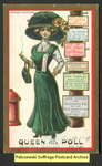 [118a] Suffragette series no.9: Queen of the poll (version 2) [front] by Dunston-Weiler Lithograph Company