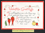 [217a] Valentine Greetings - The suffragettes can rule [front] by S. Bergman