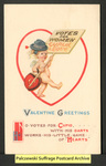[218a] Valentine Greetings - No votes for Cupid [front] by S. Bergman