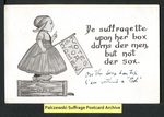 [229a] De suffragette upon her box [front] by Publisher unknown
