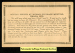 [243a] Actual Speech at Woman Suffrage Meeting, Omaha, Neb. [front] by Publisher unknown