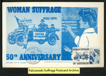 [247a] Woman Suffrage 50th Anniversary [front] by Colorano