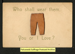 [302a] Who shall wear them, You or I Love? [front] by Publisher unknown