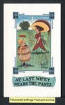 [310a] At Last Wifey Wears the Pants [front] by Publisher unknown