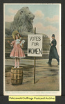 "[314a] The Suffragette - ""Down with Man-made Laws!"" [front] by Raphael Tuck & Sons"