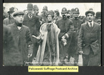 [344a] Mrs Pankhurst Arrested in Victoria Street, Feb. 13, 1908. [front]
