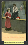 "[375a] Suffragette: ""How did you manage it?"" [front] by Bamforth & Company"