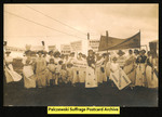 [429] Suffrage-related photo - group with signs by Photographer Unknown