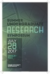 2017 Summer Undergraduate Research Symposium by University of Northern Iowa. Summer Undergraduate Research Program.