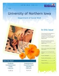 [Social Work] Newsletter, Spring 2013 by University of Northern Iowa. Department of Social Work.