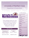 [Social Work] Newsletter, Spring 2014 by University of Northern Iowa. Department of Social Work.
