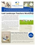 Tallgrass Prairie Center Newsletter, Spring 2008 by Tallgrass Prairie Center.