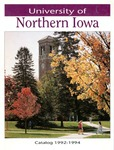 University Catalog 1992-1994 by University of Northern Iowa