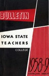 College Catalog 1958-1959 by Iowa State Teachers College