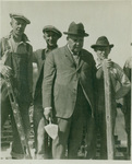 H. H. Seerley with trowel Nov. 1924
