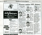Warner makes NFL history, The Northern Iowan, October 5, 1999