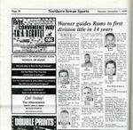 Warner guides Rams to first division title in 14 years, The Northern Iowan, December 7, 1999