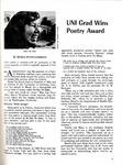 UNI grad wins poetry award, Alumnus, December 1971