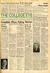 Current student productions meet with mumps casualty, The College Eye, May 23, 1941