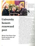 University honors renowned poet, Northern Iowa Today, July 1991