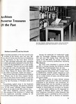 Archives preserve treasures of the past, Alumnus, September 1968