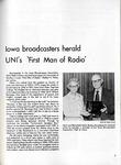 Iowa broadcasters herald UNI's 'first man of radio', Alumnus, September 1976