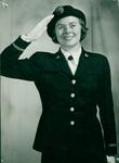 Edith Gentry saluting